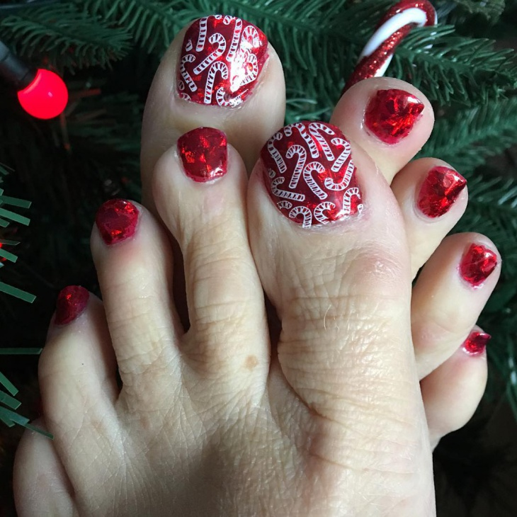 Christmas Toe Nail Designs - 36+ Christmas Nail Designs, Ideas Design Trends - Premium PSD