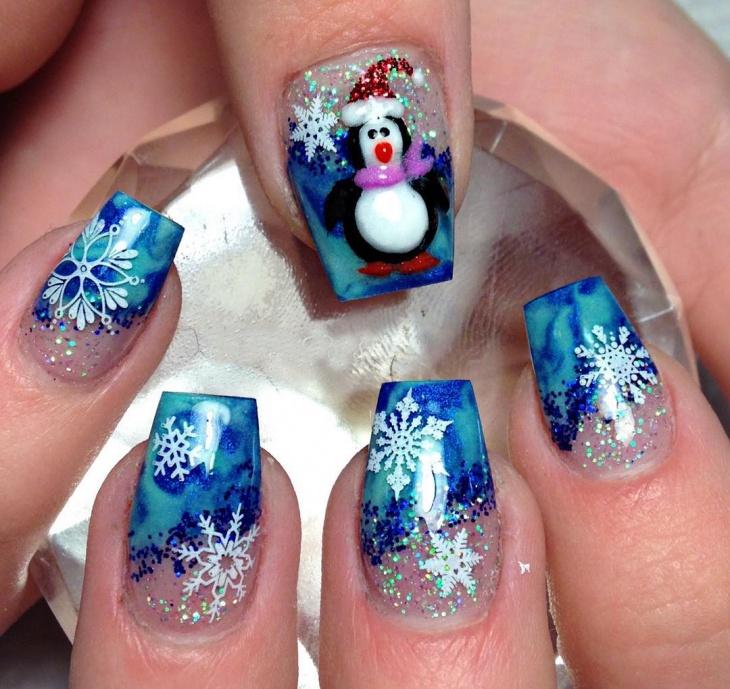 false nails christmas design