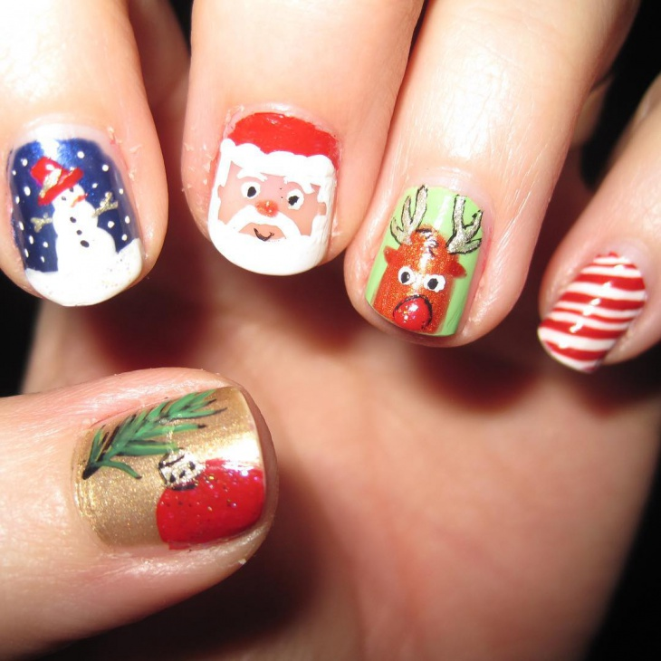 Cute Christmas Holiday Nail Designs - 36+ Christmas Nail Designs, Ideas Design Trends - Premium PSD
