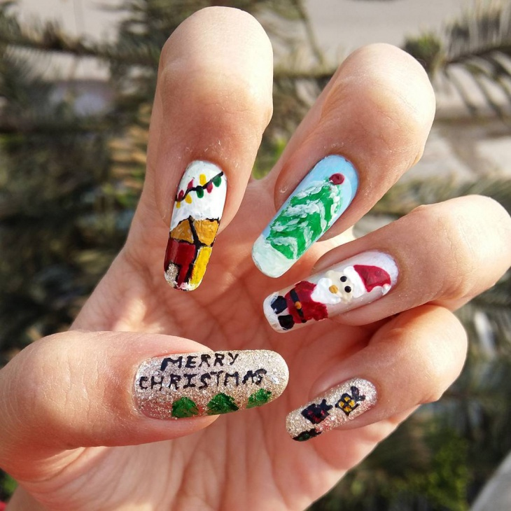 36+ Christmas Nail Designs, Ideas | Design Trends - Premium PSD ...