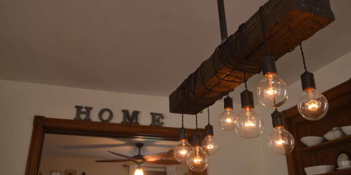 Wood Beam Chandelier