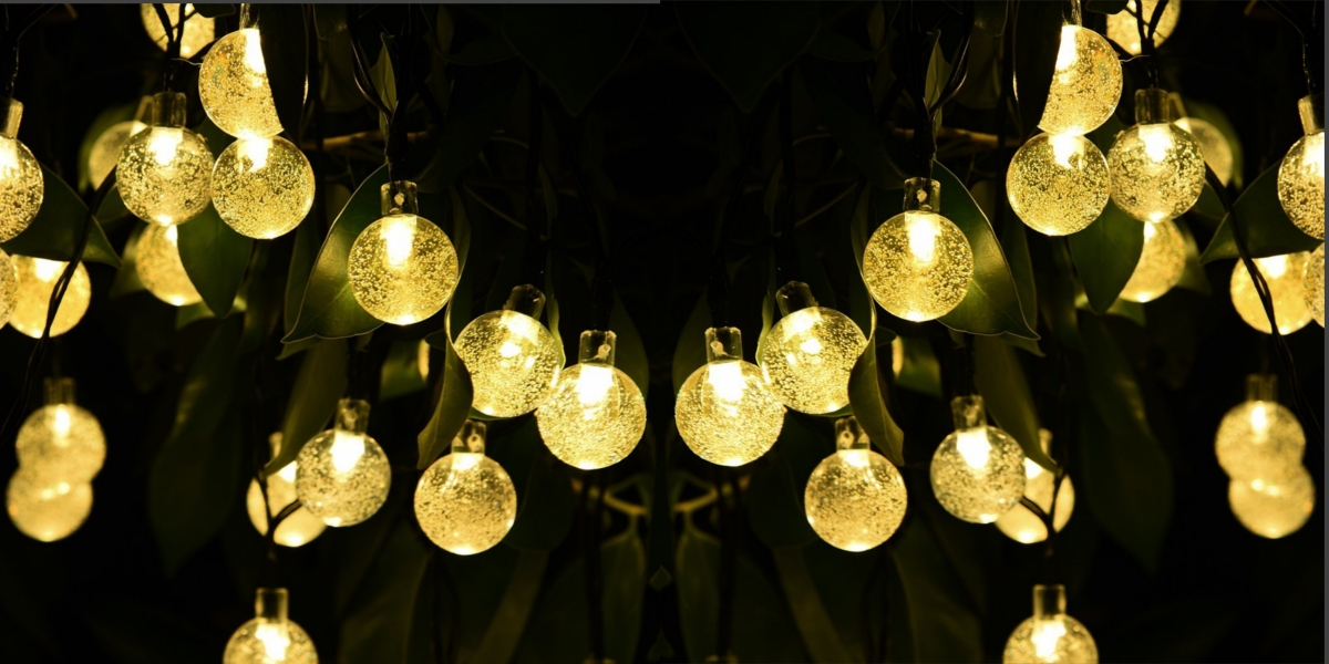 cymas outdoor solar string globe lights