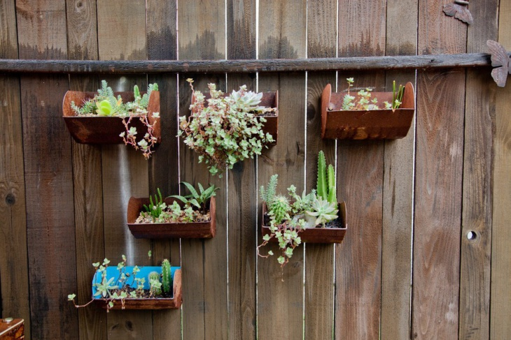 Wooden Wall Hanging Herb Garden