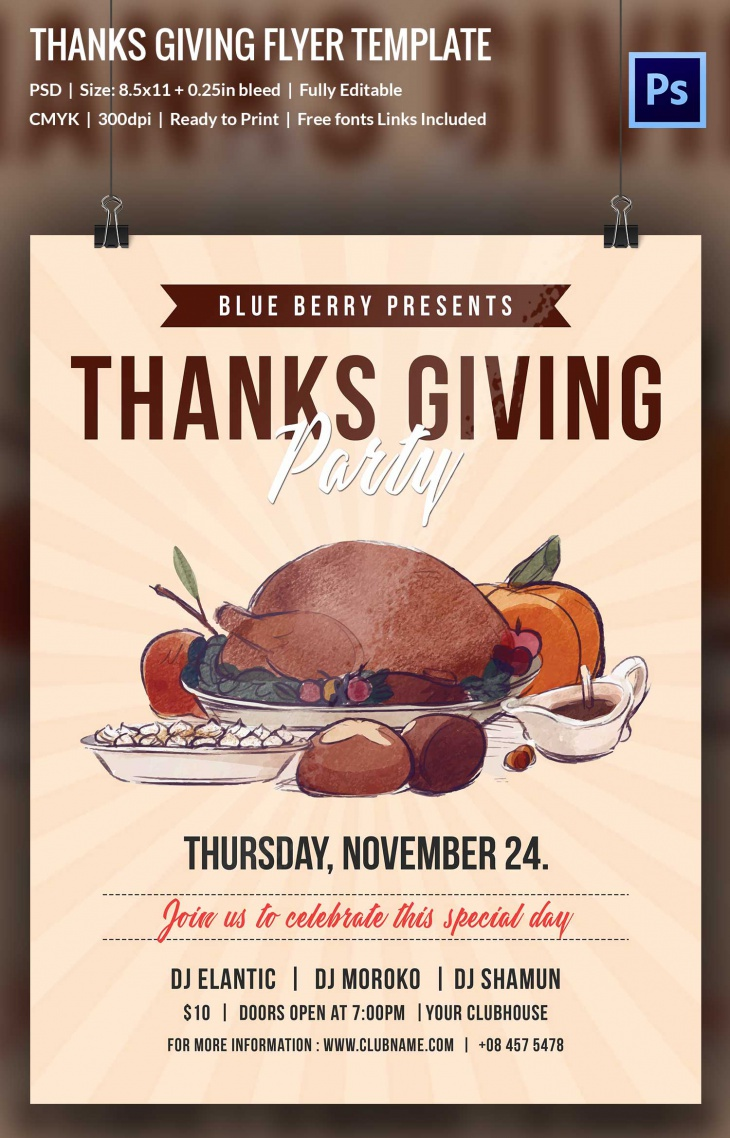 thanks giving flyer 3