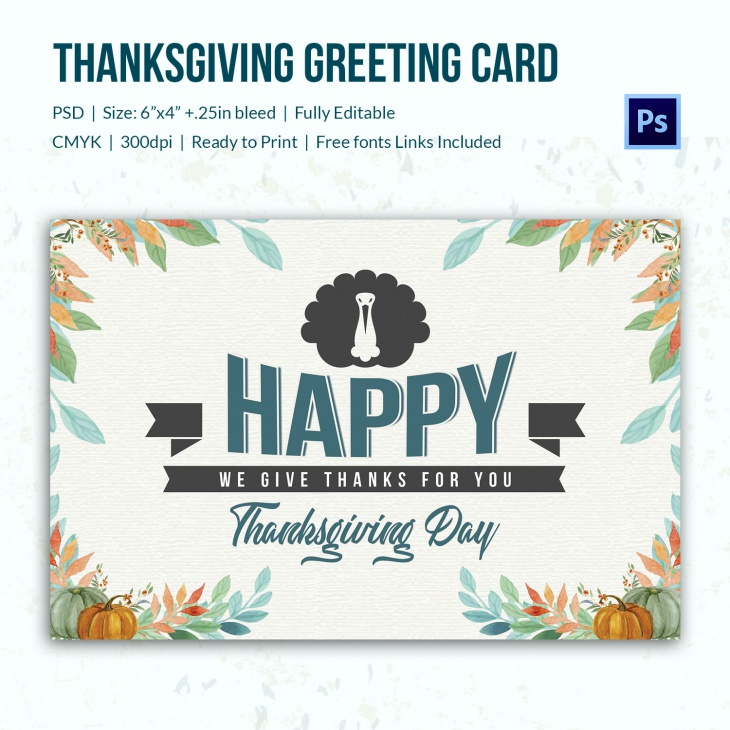 thanks giving greeting card 3