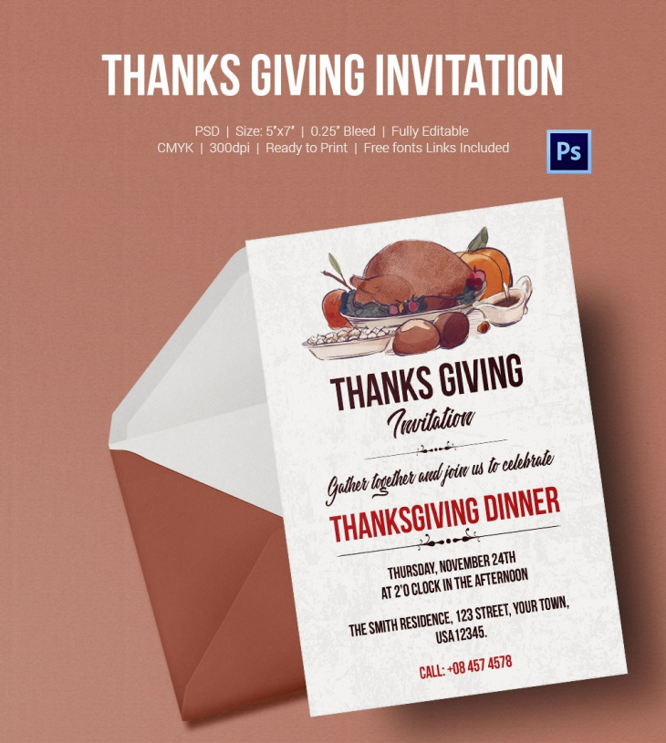 thanks giving invitation 1