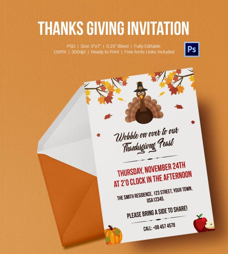thanks giving invitation 2