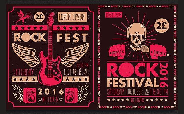 Vintage Rock Festival Poster