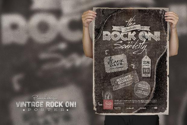 Vintage Rock Music Poster