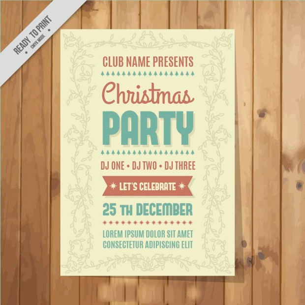 Vintage Christmas Party Poster