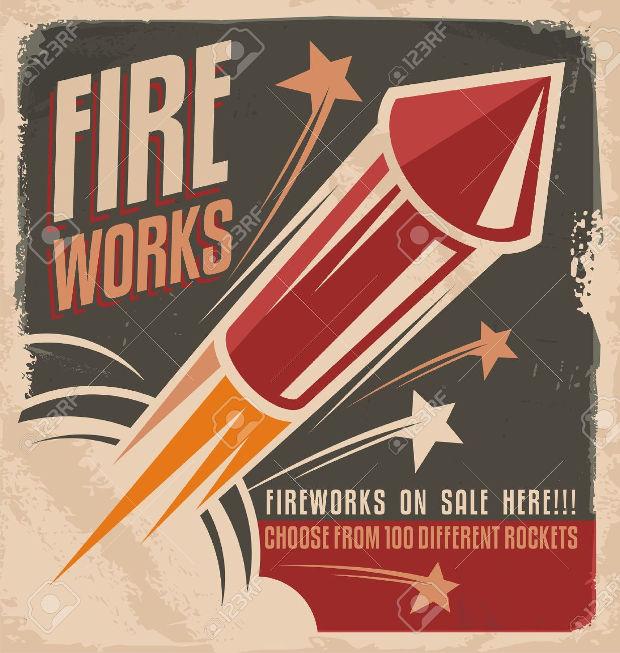Vintage Fireworks Poster