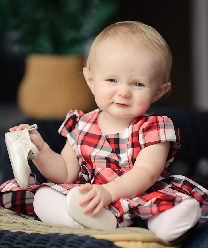 plaid christmas dress for infants1