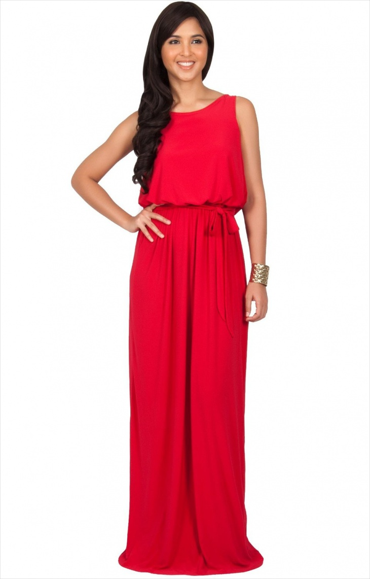 long red christmas dress for women