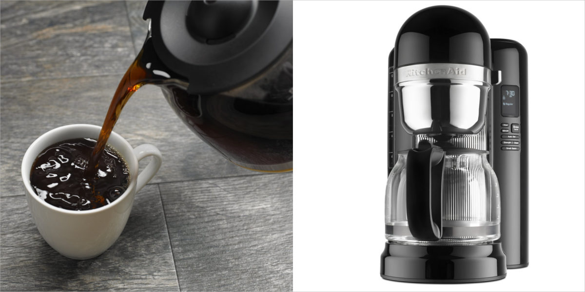 kitchenaid 12 cup coffee maker in onyx black