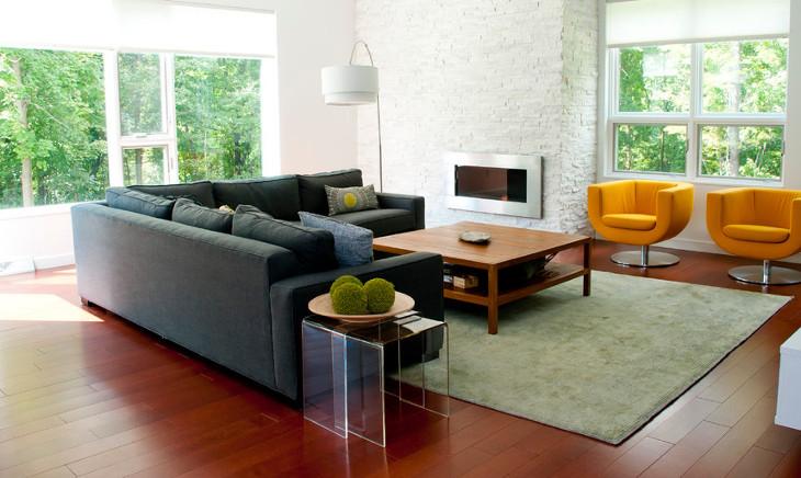 modern living room sofa table