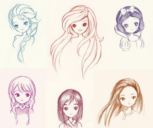 disney princess drawing idea