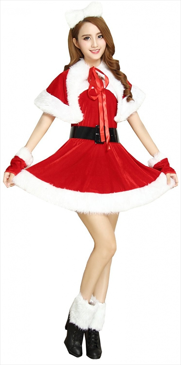 womens christmas santa dress