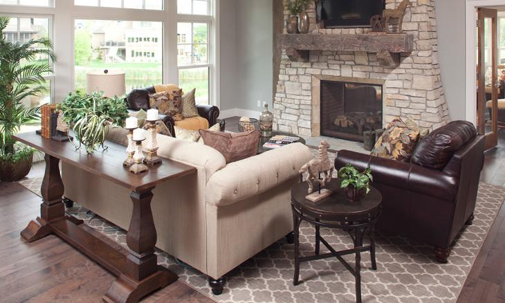 traditional wood sofa table