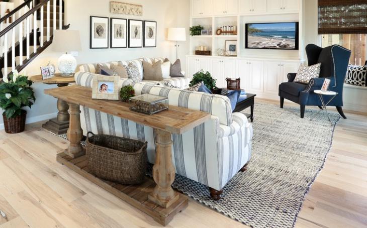 beach cottage sofa table