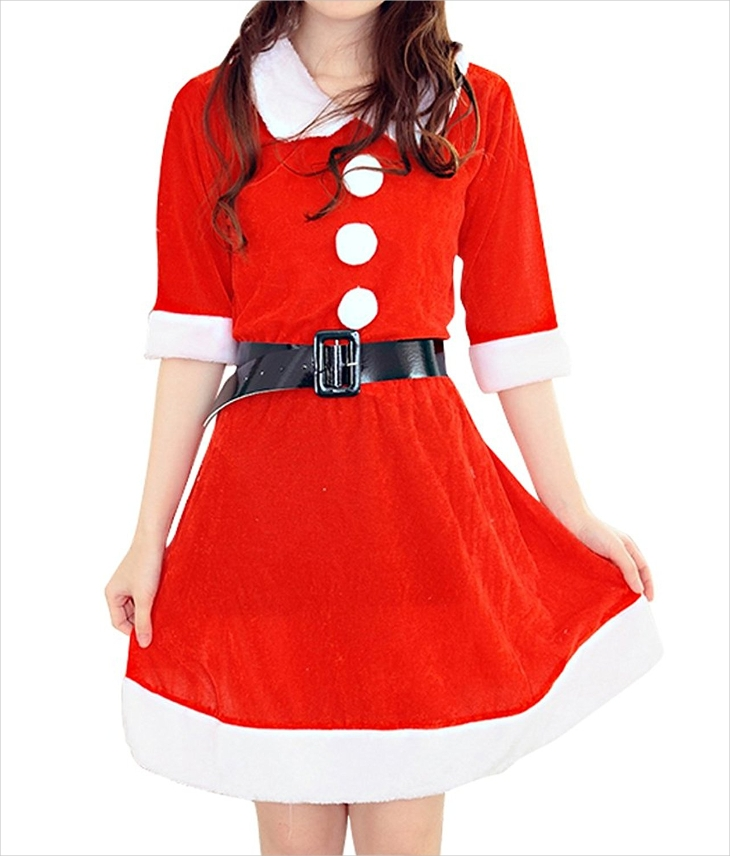 long sleeve christmas dance dress