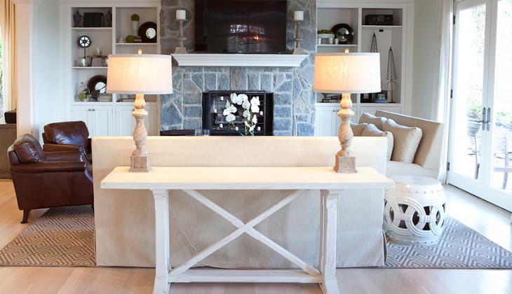 White Sofa Table. White Wooden Sofa Table E