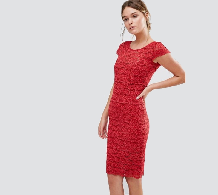 christmas red cocktail dress