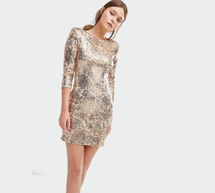 gold sequin christmas dress