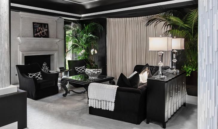 simple black sofa table
