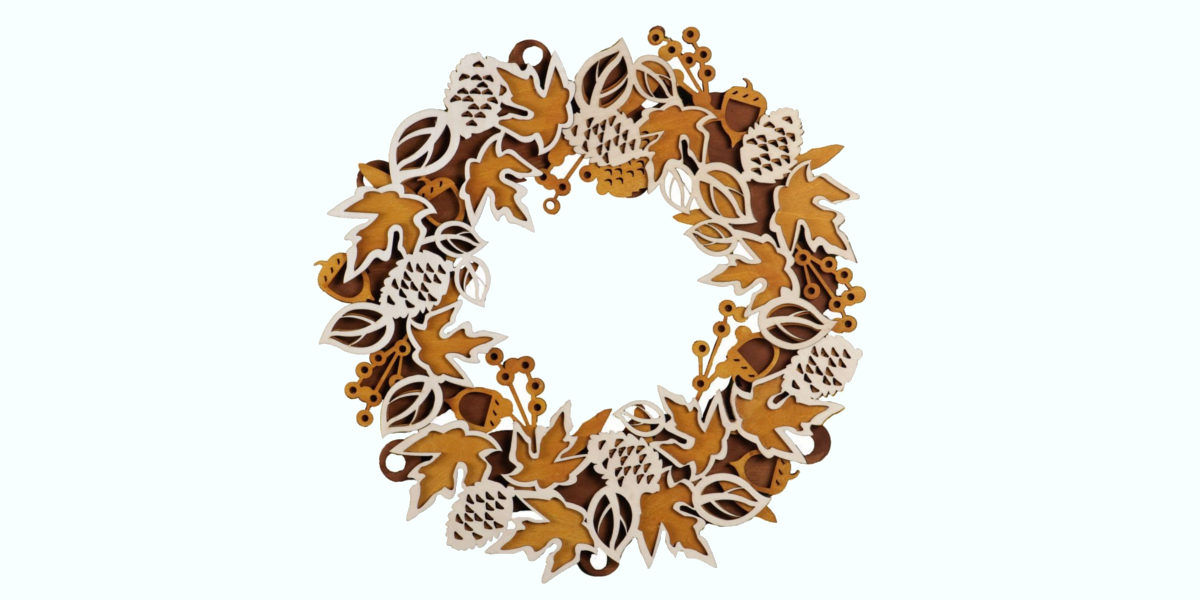 flourish fall hanging wreath