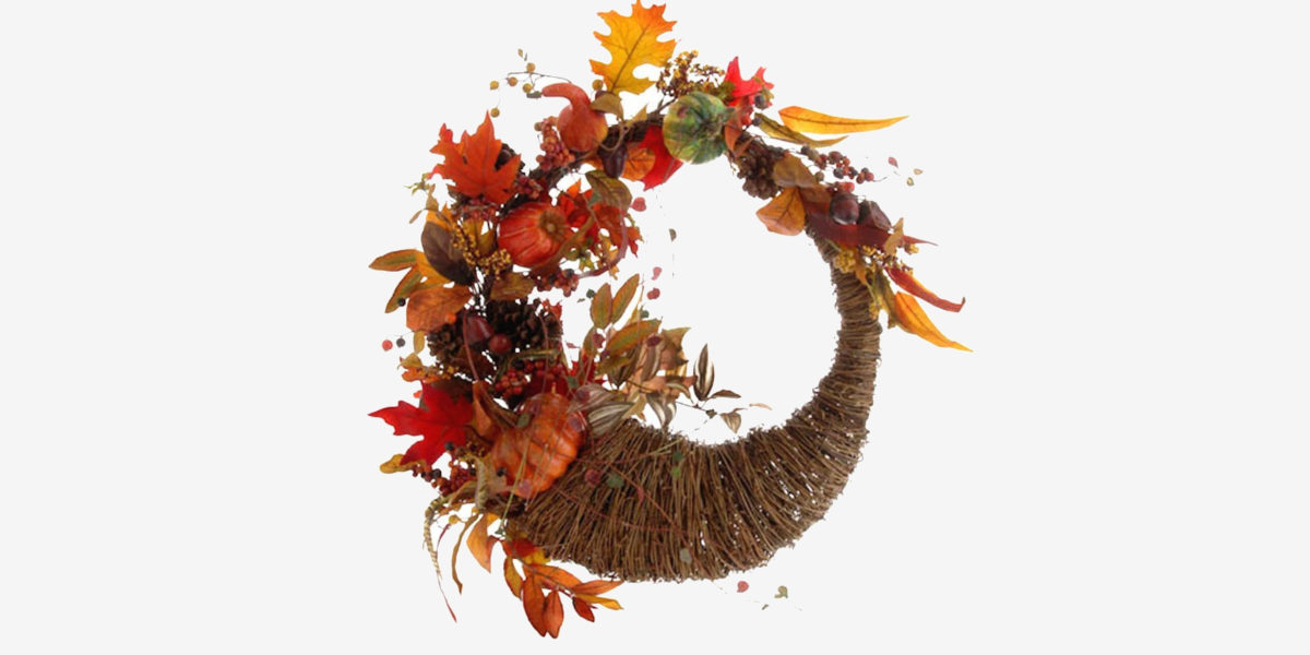 thanksgiving cornucopia wreath