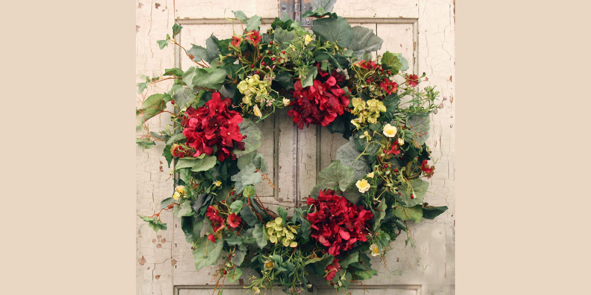 belmont silk door wreath