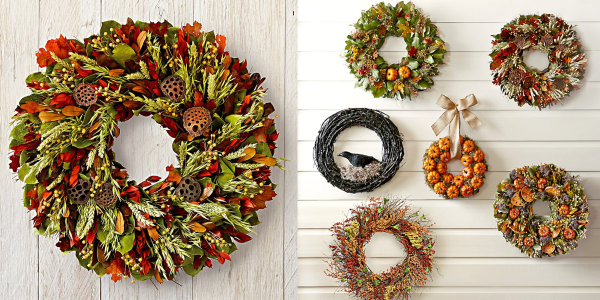 williams sonoma autumn harvest wreath