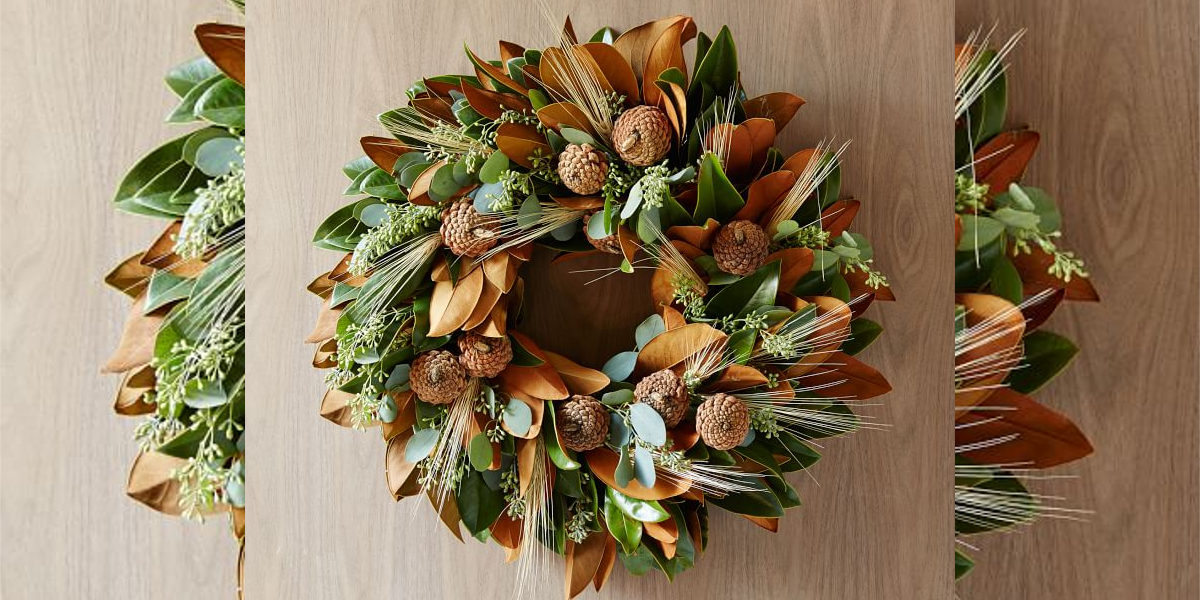 west elm magnolia wheat wreath