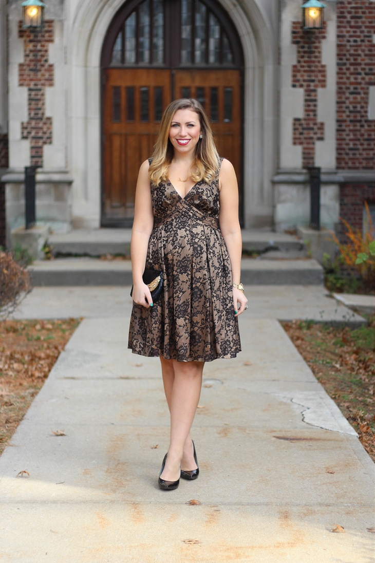 black lace christmas dress