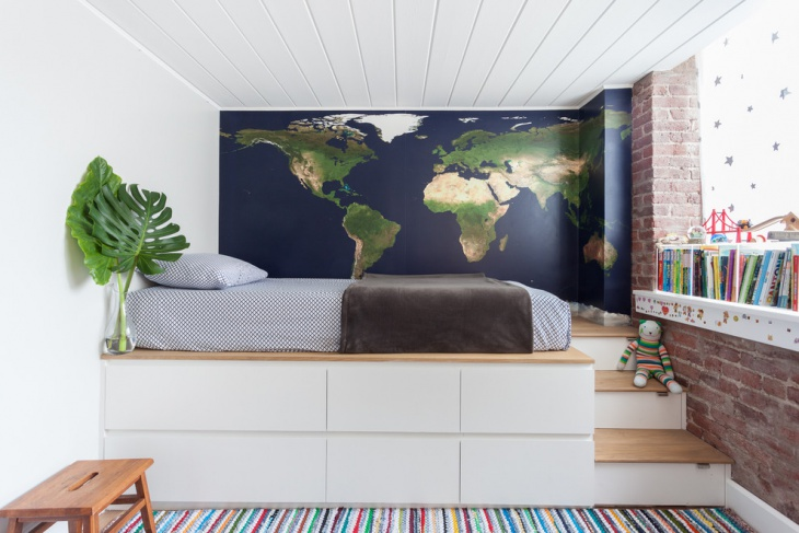 Interior Map Wall Design