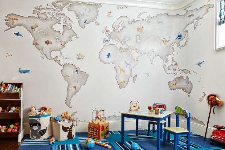 Kids Wall Map Design