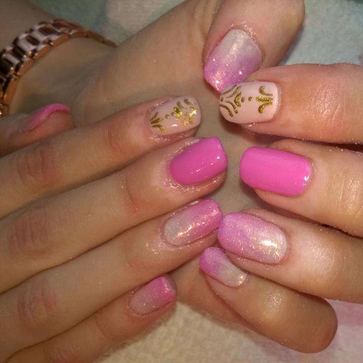 acrylic baroque nail design idea