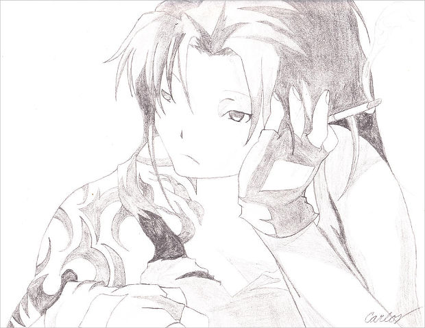 depression animae pencil drawing