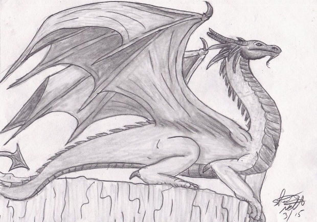 Dragon Pencil Sketch Drawing