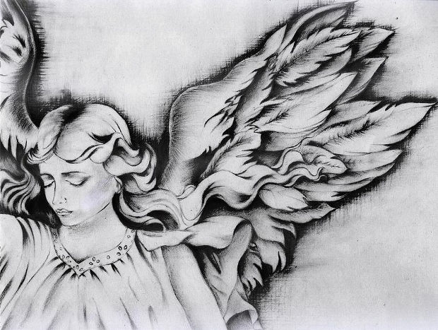 pencil angel wings drawing