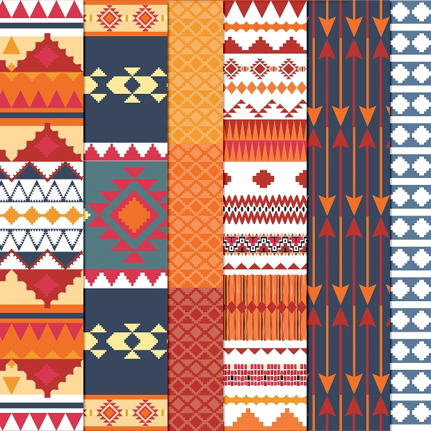 aztec tribal pattern