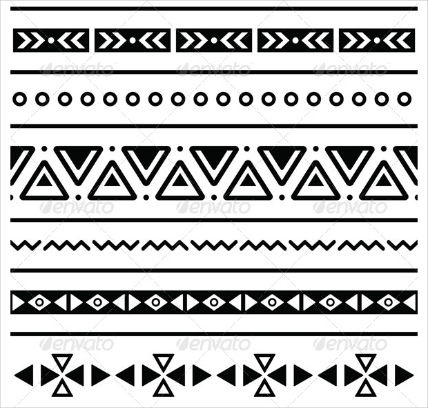 40 Tribal Patterns PSD PNG Vector EPS Design Trends Premium Fascinating Aztec Tribal Pattern