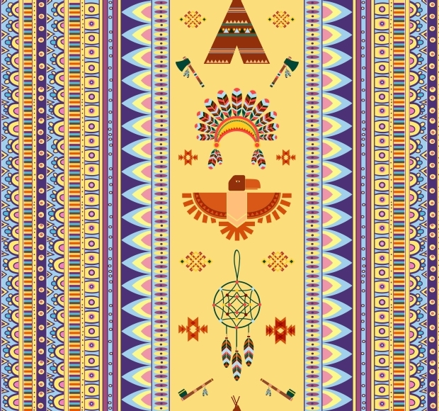vintage tribal pattern