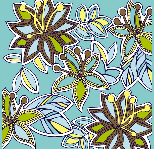 tribal floral pattern