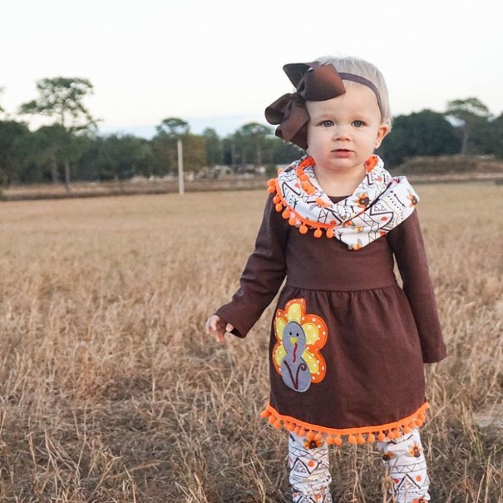 full sleeve toddler thanksgiving outfit