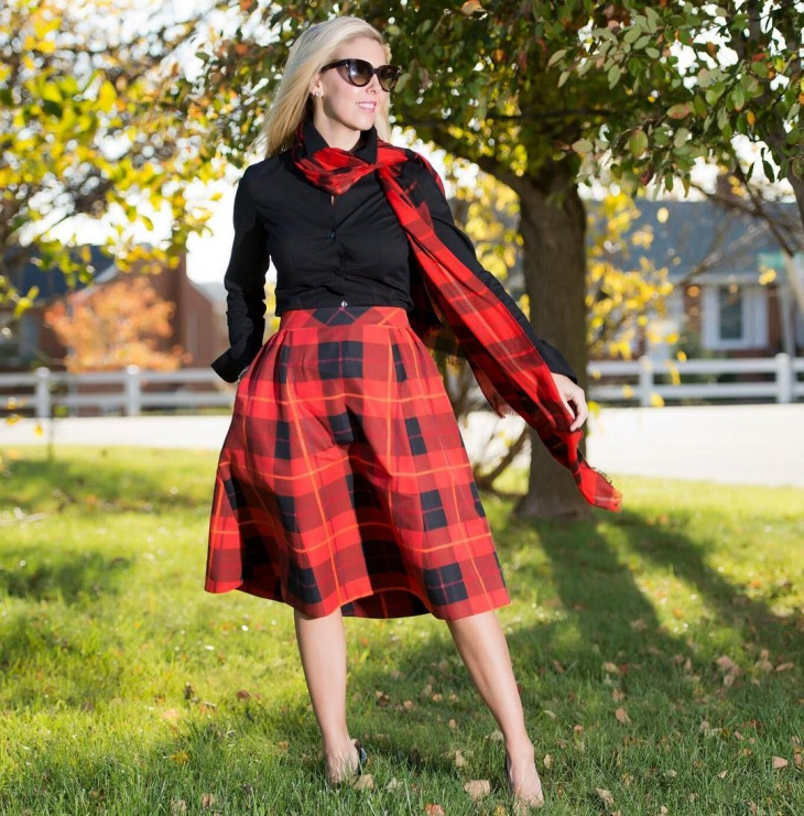 plaid thanksgiving outfits for women
