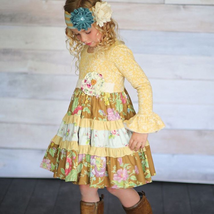 kids ruffile thanksgiving outfits