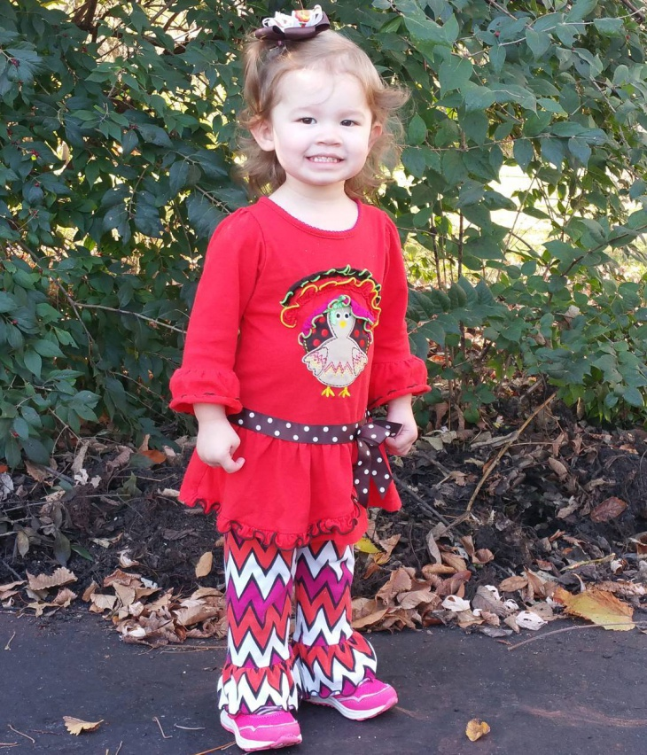 red thanksgiving outfit for girl