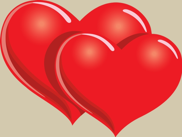 Red Double Heart Clipart