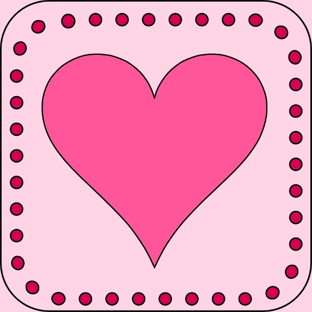 Heart Page Border Clipart